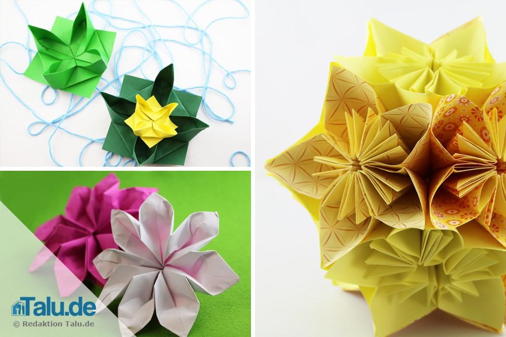 FleurogamiAnleitung  Blüten aus Papier selbst bastel