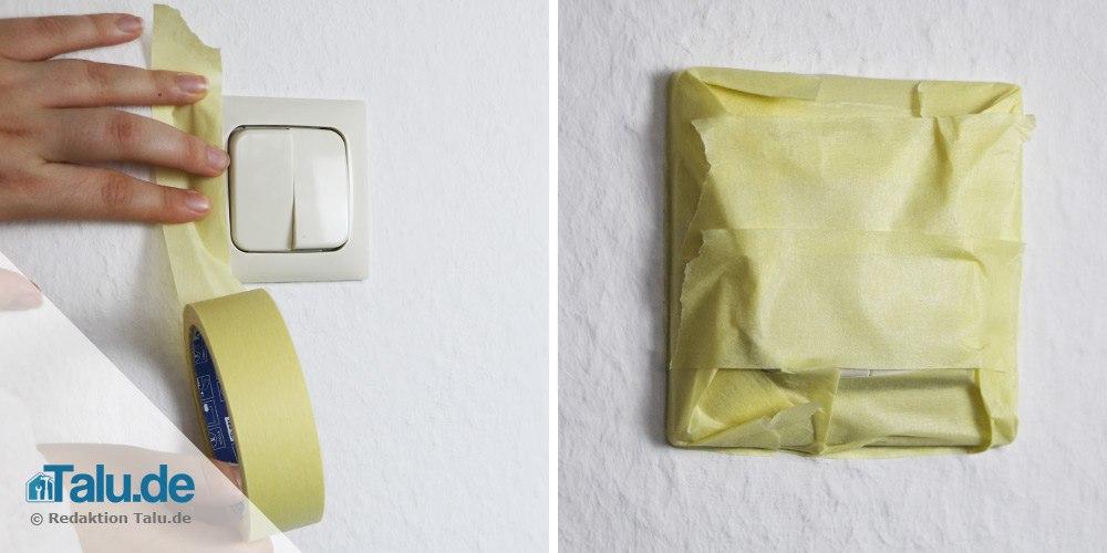 Lichtschalter abkleben