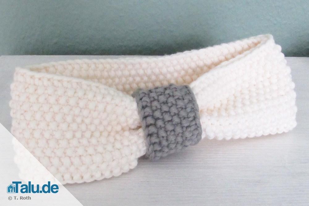 stirnband selber stricken die schnelle anleitung. Black Bedroom Furniture Sets. Home Design Ideas