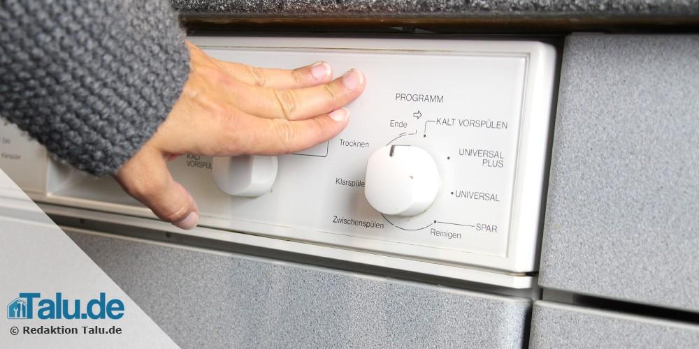 Spülmaschinentür prüfen