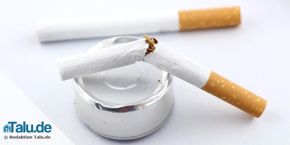 Nikotin entfernen