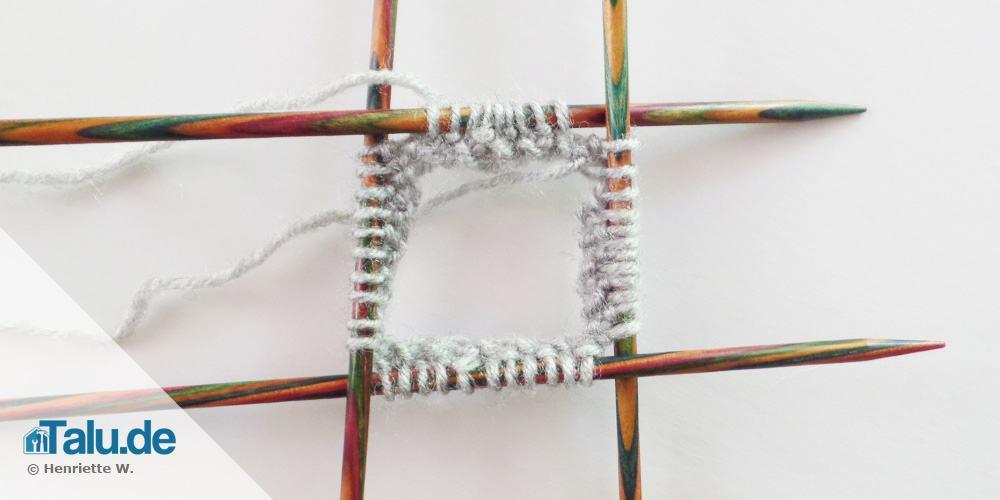 Bündchen von Armstulpe stricken