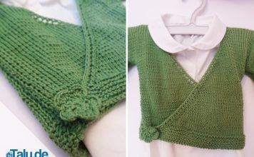 Babyjacke stricken
