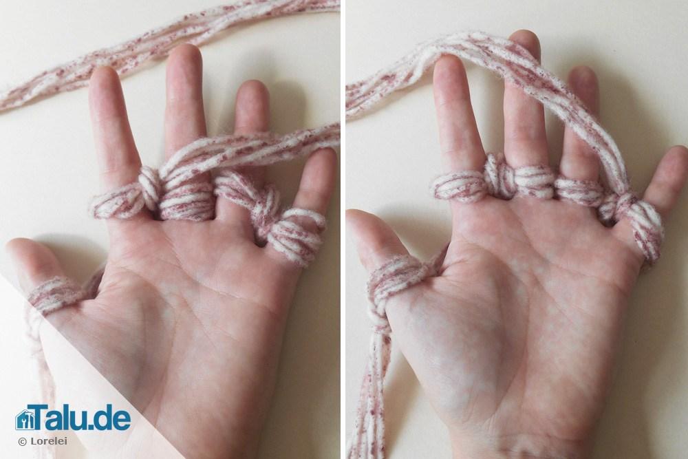 Offenes Fingerstricken