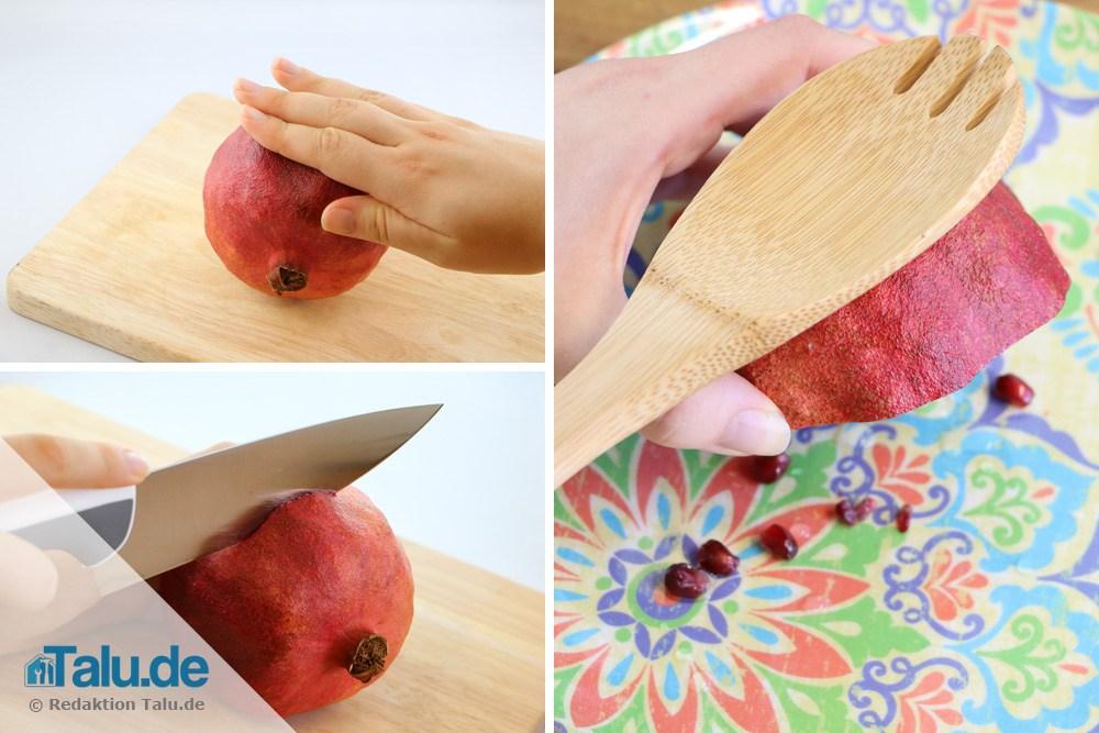 Granatapfelkerne rausklopfen