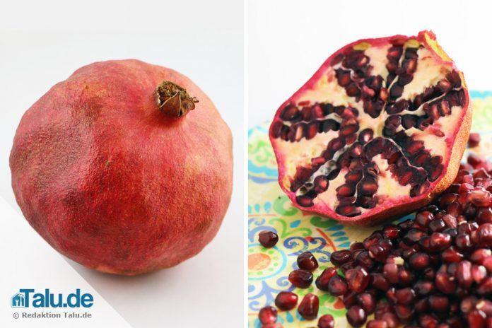 Granatapfel richtig essen