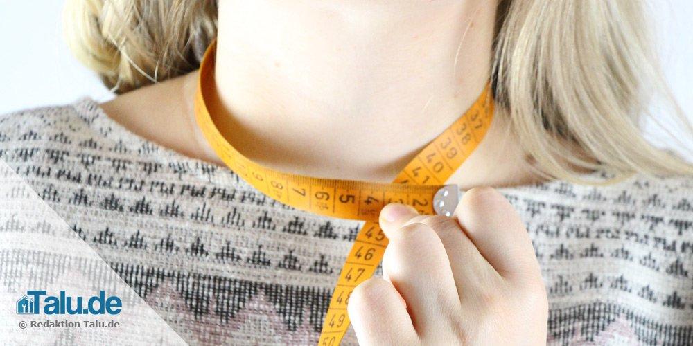 Halssausschnitt messen