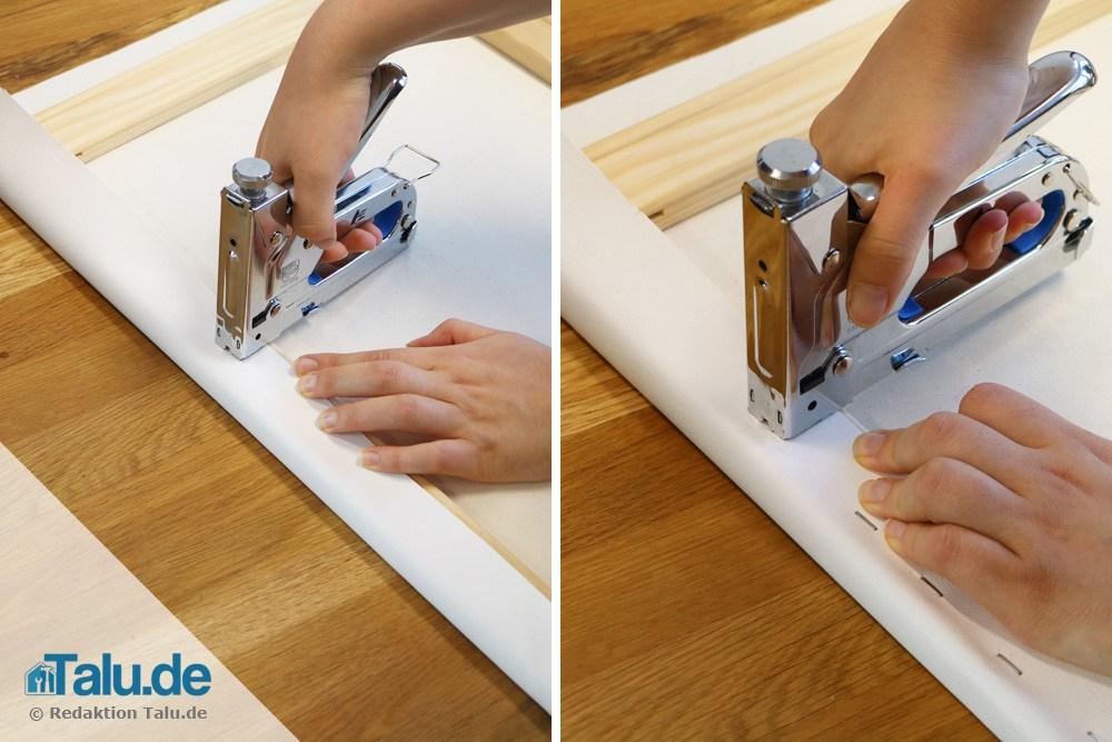 DIY: Keilrahmen mit Leinwand selber bauen und spannen - Talu.de