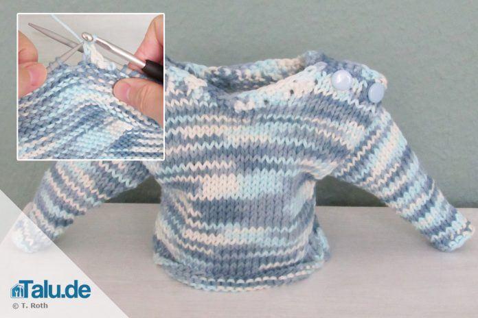 Kinderpullover stricken: Mädchenpulli mit Kapuze |