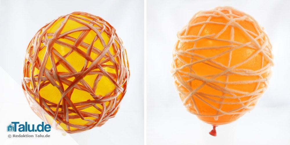 Luftballon trocknen lassen