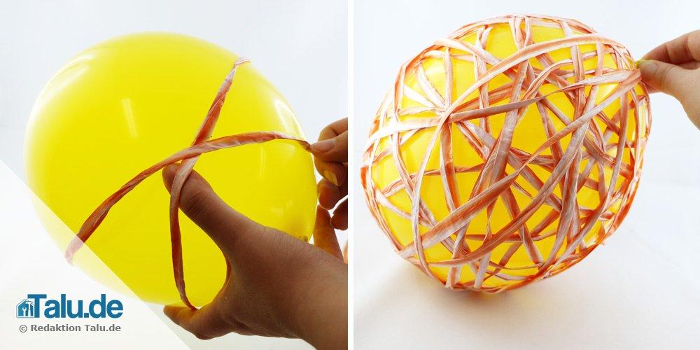 Lampenschirm aus Luftballon bauen