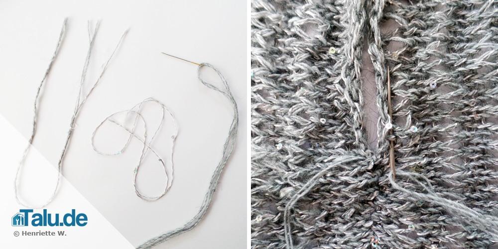 Loop-Schal zusammennähen