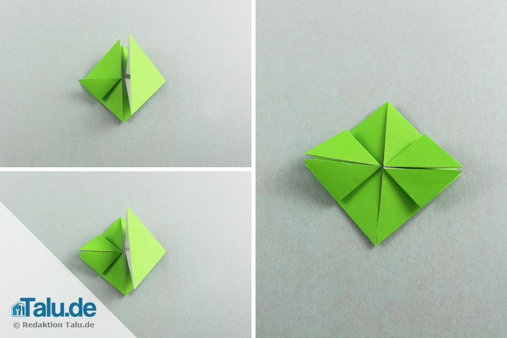 Origami Frosch aus Papier falten