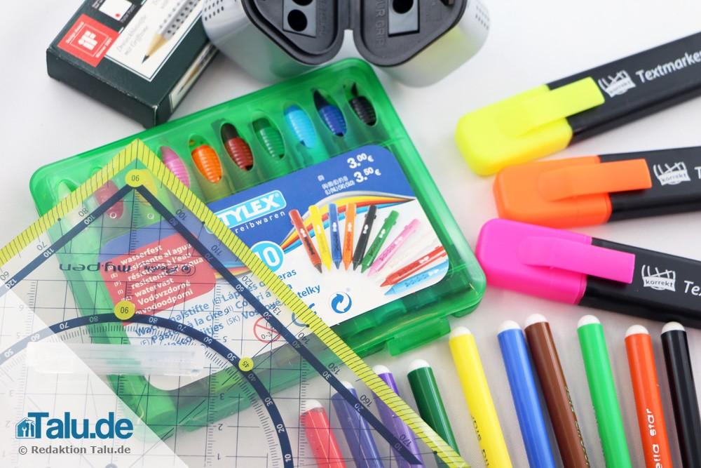 Schreibutensilien zum Schulanfang