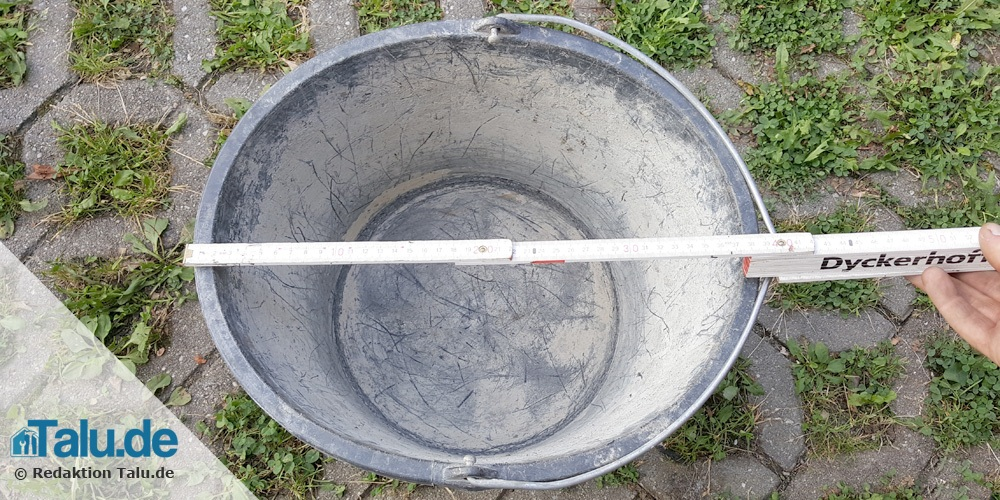 Durchmesser Eimer