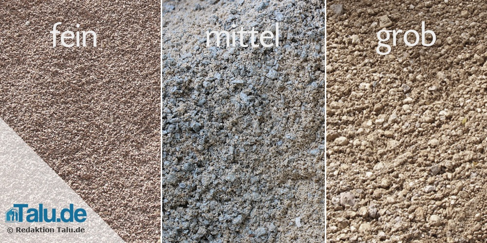 Mineralbeton - Körnungen