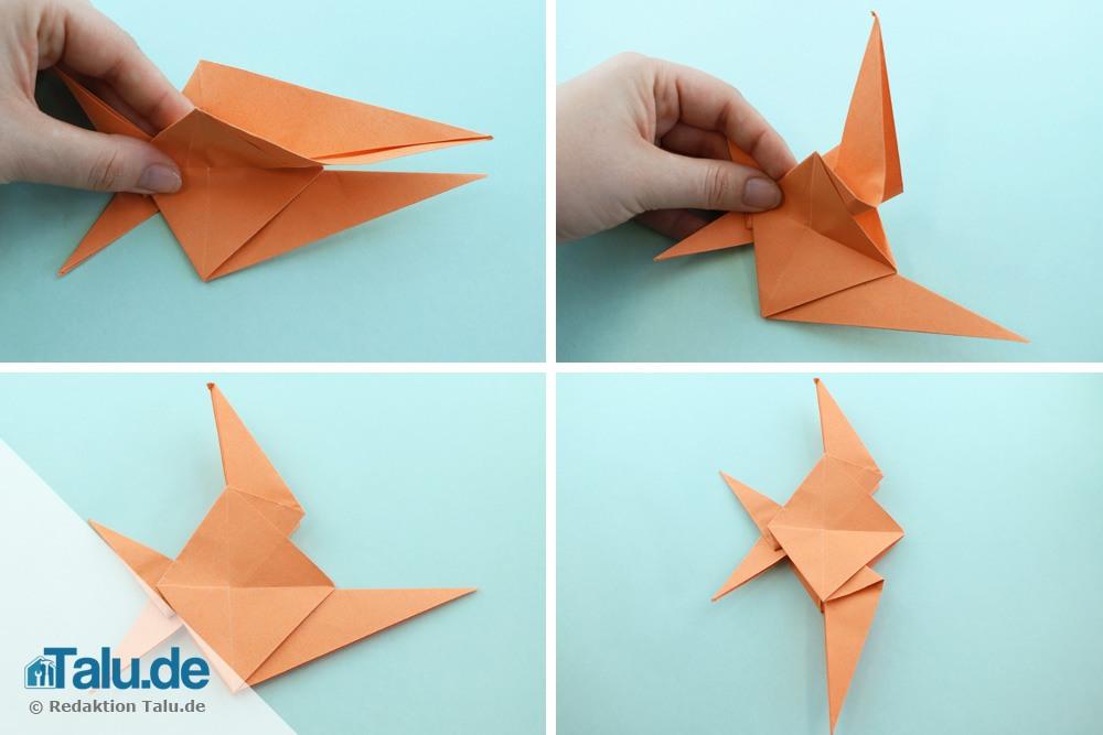 Origami Fisch falten