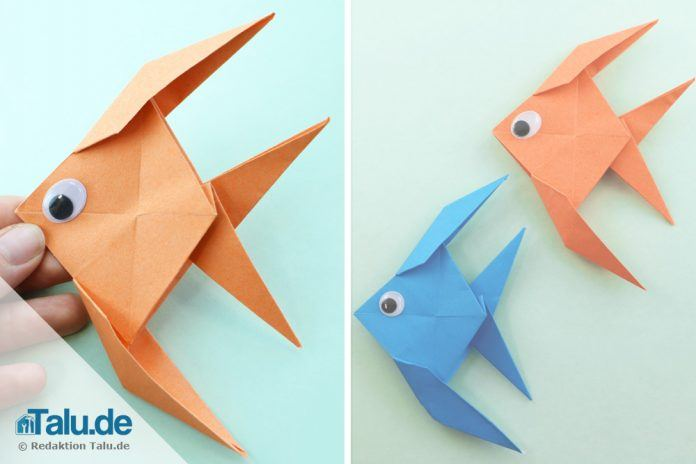 origami fisch falten aus papier einfache anleitung. Black Bedroom Furniture Sets. Home Design Ideas