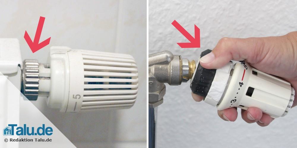 Thermostat abschrauben