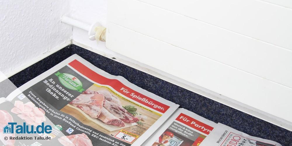 Zeitung auslegen