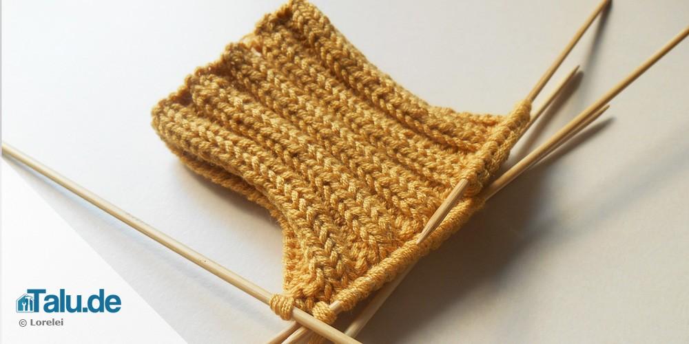Socke mit Bumerangferse stricken