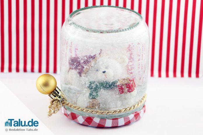 Beliebt Schneekugel basteln - 2 tolle Ideen zum Selbermachen - Talu.de OM56