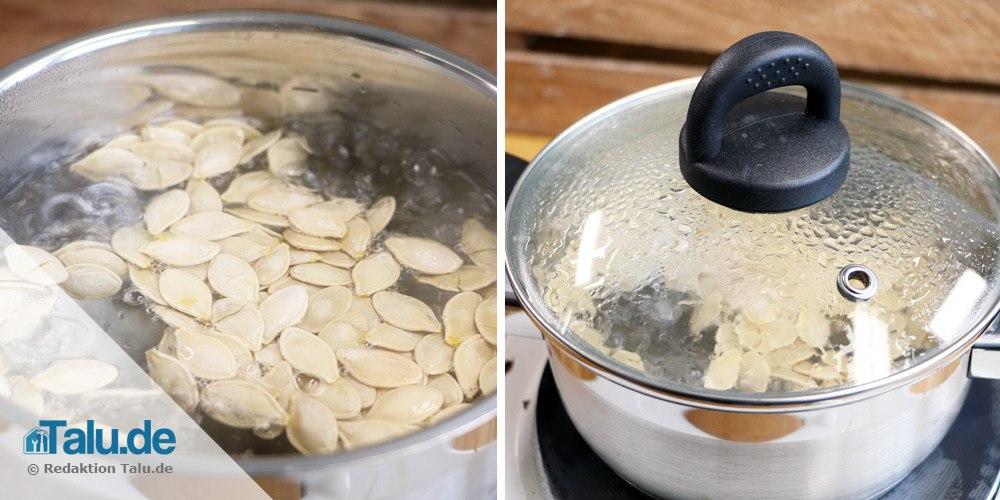Kürbiskerne kochen