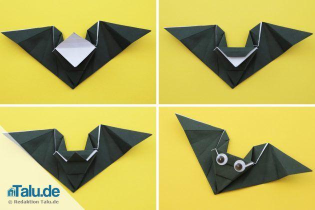 Origami Fledermaus zu Halloween