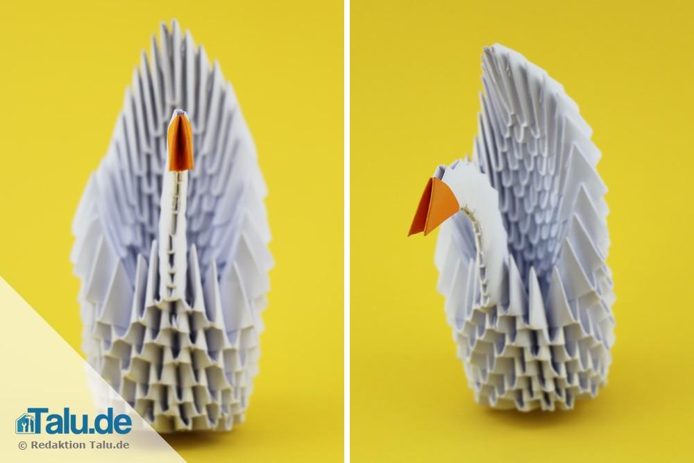 tangrami anleitung 3d origami schwan falten. Black Bedroom Furniture Sets. Home Design Ideas