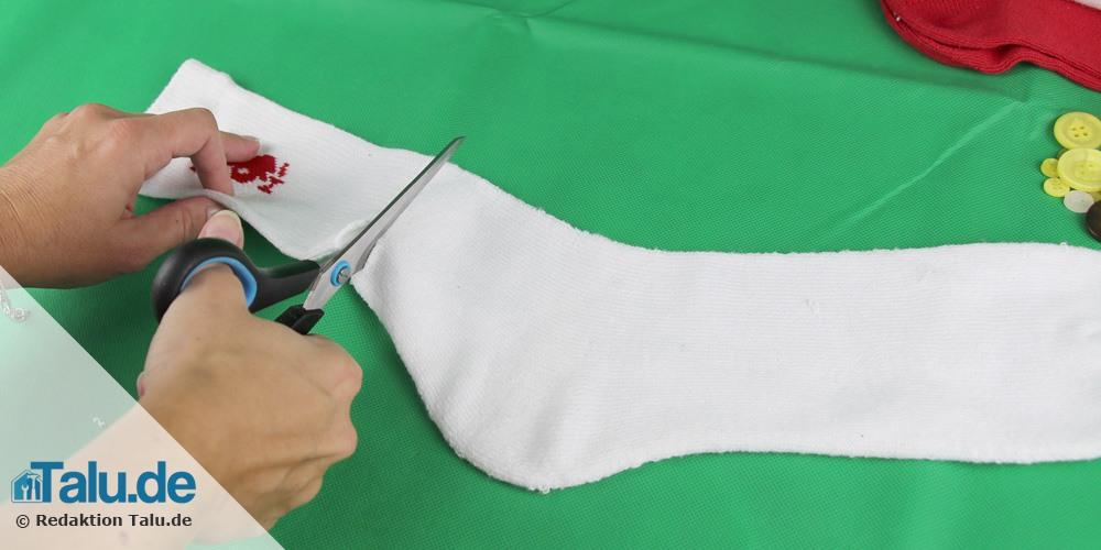 Socke schneiden