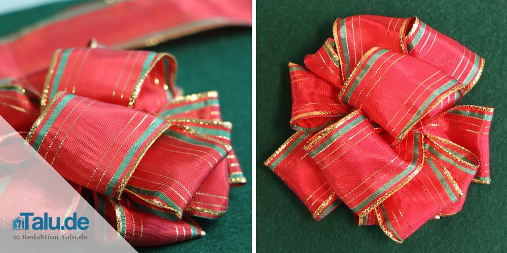 Geschenkschleife binden