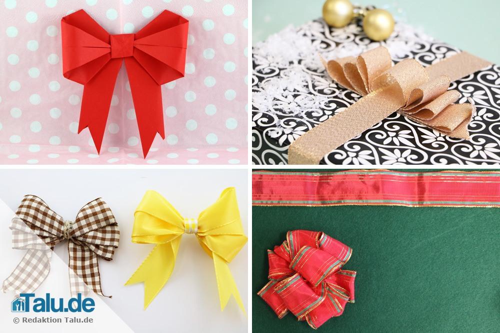 video geschenkschleifen binden tolle schleifen aus geschenkband. Black Bedroom Furniture Sets. Home Design Ideas