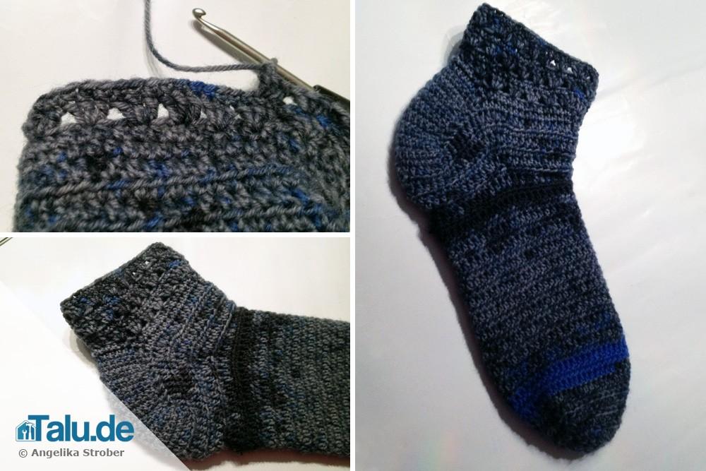 Häkelanleitung Für Anfänger Socken Häkeln Talude