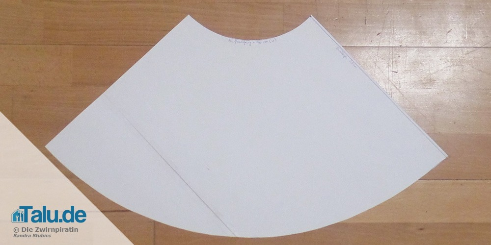 Schnittmuster für Tellerrock