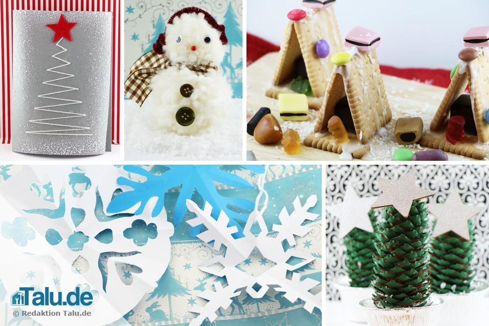 Weihnachtsgeschenke basteln mit kindern 12 kreative ideen - Weihnachten kindergarten ideen ...