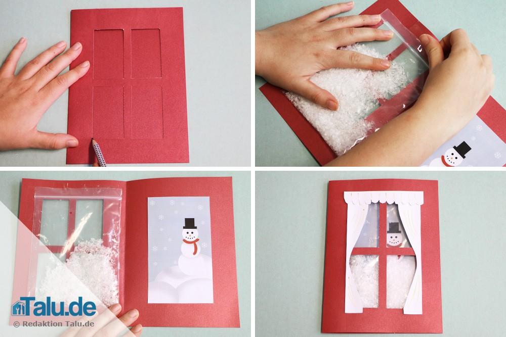 Weihnachtskarten basteln mit kindern diy tutorial for Weihnachtskarten mit kindern basteln