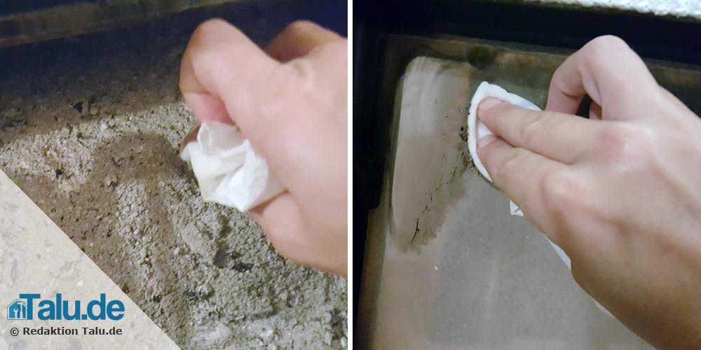 Kaminscheibe reinigen