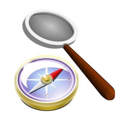 Kompass und Lupe