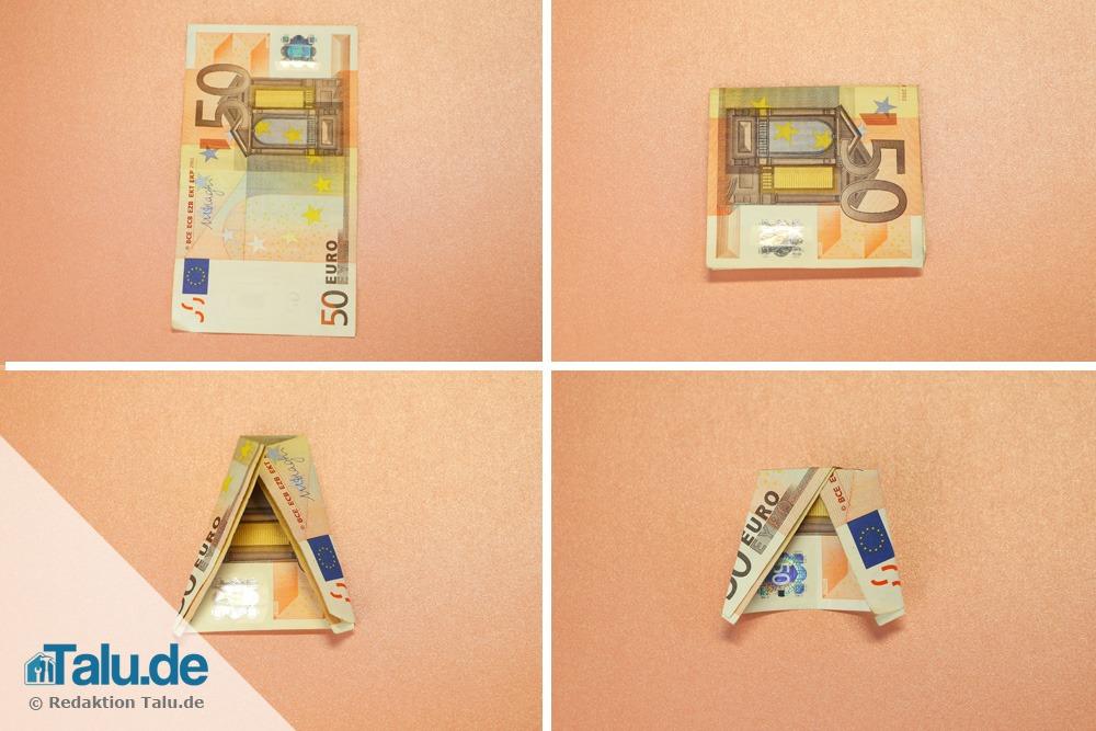 Engel basteln aus Geldscheinen