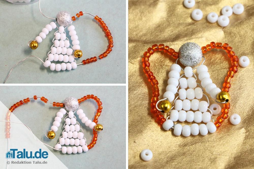 Engel basteln aus Perlen