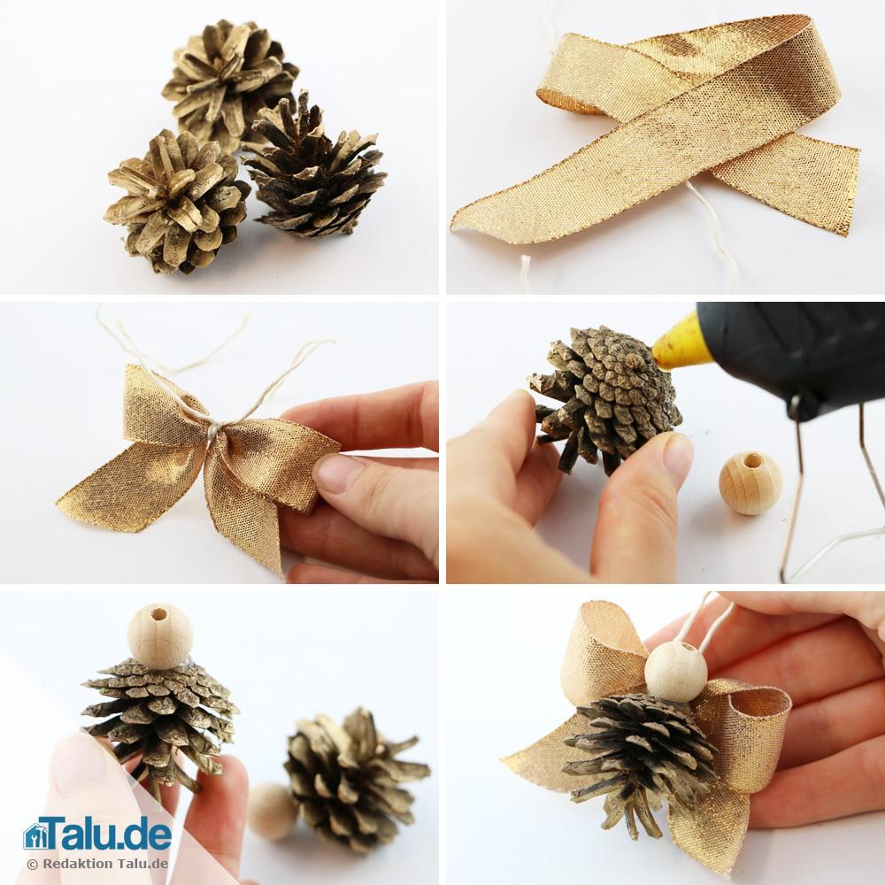 Engel basteln 7 ideen f r weihnachtsengel anleitung for Mit tannenzapfen basteln