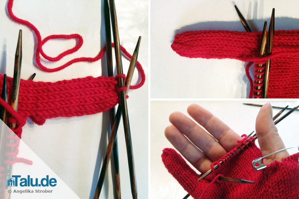 Fingerhandschuhe stricken