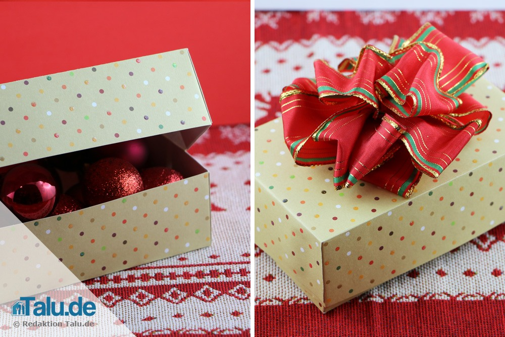 geschenkbox basteln diy geschenkschachteln f r weihnachten. Black Bedroom Furniture Sets. Home Design Ideas