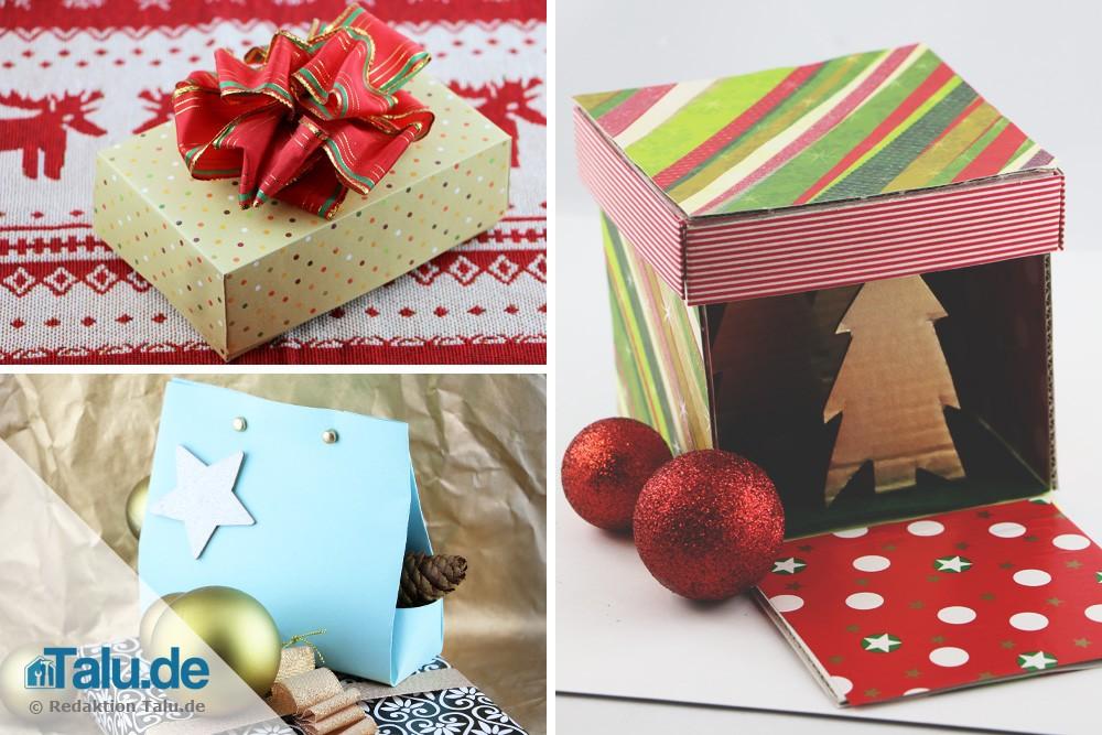 geschenkbox basteln diy geschenkschachteln f r. Black Bedroom Furniture Sets. Home Design Ideas