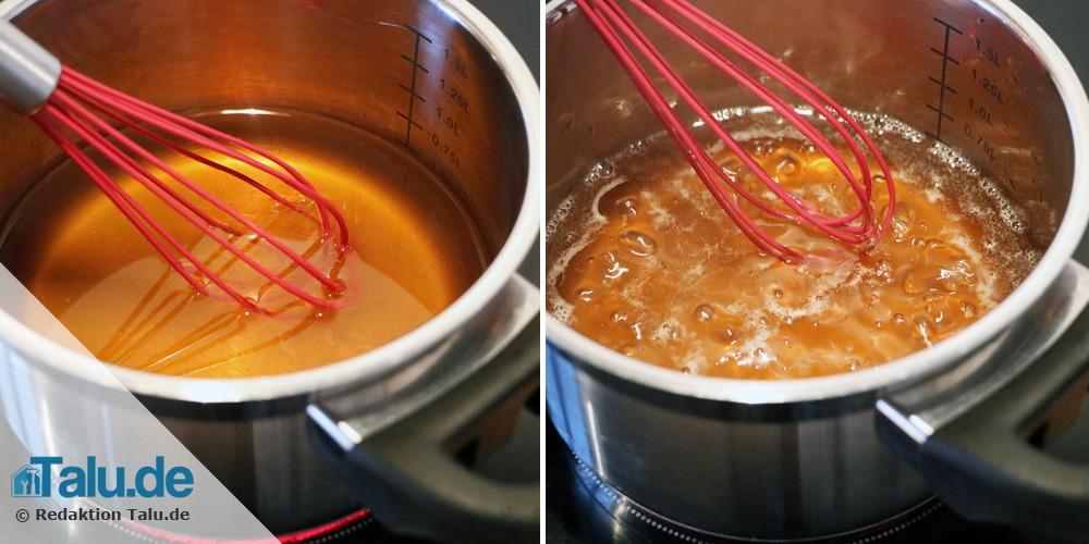 Honig und Wasser kochen