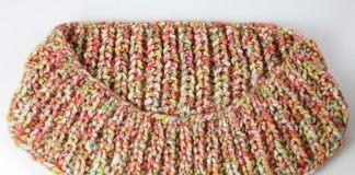 Schal stricken mit Patentmuster