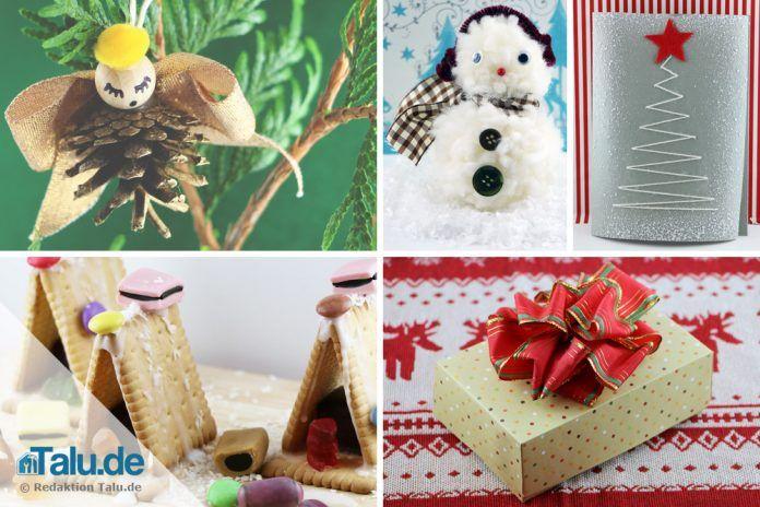Weihnachtsbasteln Für Kleinkinder.Einfache Weihnachtsbasteleien Für Kinder Mit Anleitung Talu De