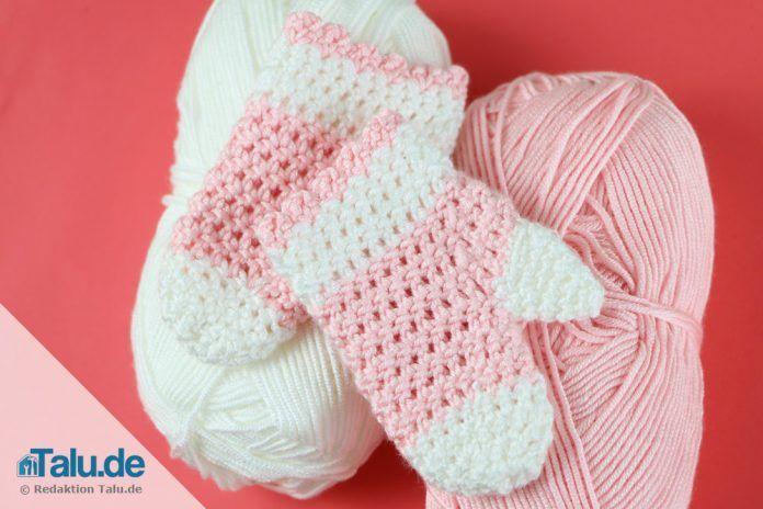 Babyhandschuhe Häkeln Kostenlose Anleitung Für Fäustlinge Talude