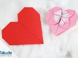Origami-Herz falten