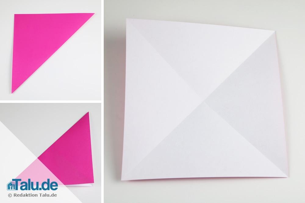 Origami-Rose falten